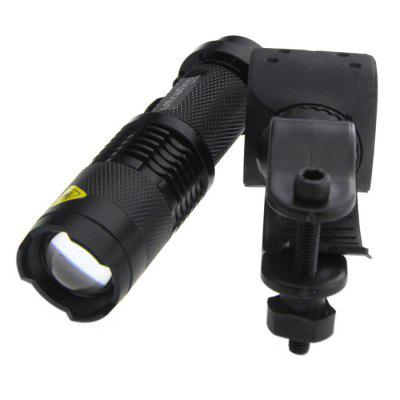 Ultrafire UK - 68 Zooming LED FlashlightLED Flashlights<br>Ultrafire UK - 68 Zooming LED Flashlight<br><br>Available Light Color: White<br>Battery Quantity: 1 x 14500 / AA battery (not included)<br>Battery Type: AA, 14500<br>Beam Distance: 50-100m<br>Body Material: Aluminium Alloy<br>Brand: Ultrafire<br>Circuitry: 800mA<br>Emitters: Cree Q5<br>Emitters Quantity: 1<br>Feature: Pocket Clip<br>Flashlight Processing Technology: Aerospace Grade Aluminum Body with Anti Scratching Type 2 Hard Anodization<br>Function: Walking, EDC, Hiking, Night Riding, Camping, Household Use<br>High Mode: 1h<br>Impact Resistance: 1M<br>LED Lifespan: 50000h<br>Lens: Resin Convex Lens<br>Low Mode: 2.5h<br>Lumens Range: 200-500Lumens<br>Luminous Flux: 300LM<br>Mid Mode: 1.5h<br>Mode: 3(Low - High - Strobe)<br>Model: UK-68<br>Package Contents: 1 x Ultrafire UK-68 Flashlight, 1 x Bicycle Holder<br>Package size (L x W x H): 11.00 x 4.00 x 4.00 cm / 4.33 x 1.57 x 1.57 inches<br>Package weight: 0.1300 kg<br>Power: 7W<br>Power Source: Battery<br>Product size (L x W x H): 9.30 x 2.60 x 2.60 cm / 3.66 x 1.02 x 1.02 inches<br>Product weight: 0.0550 kg<br>Reflector: No<br>Strobe Mode: 1.2h<br>Switch Location: Tail Cap<br>Waterproof Standard: IPX-4 Standard Water-resistant<br>Working Voltage: 1.2-4.2V<br>Zooming Function: Yes