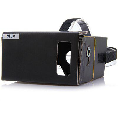 iBlue DIY Cardboard VR Headset Virtual Reality 3D Glasses