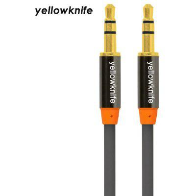 Yellowknife Cable de Audio con Enchufe de 3,5mm de 1m - 2 Años de Garantía