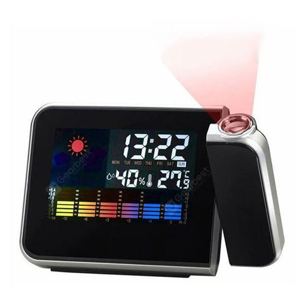 I8190 Multifunktions-Projektion Alarm Snooze Uhr Super Clear LCD-Display mit detaillierten Wetterstation