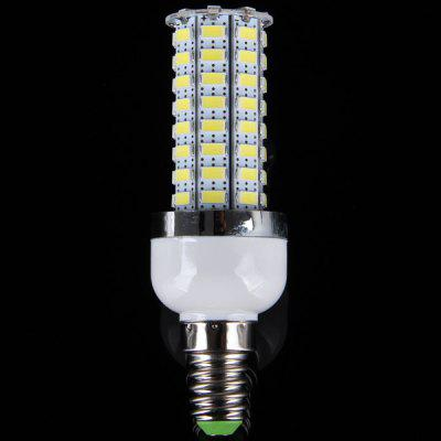 15W E14 72 SMD 5730 LEDs Light 6000  -  6500K 3240 Lumens Silver Edged Corn Lamp