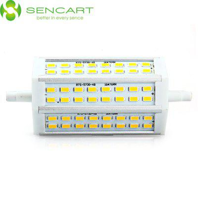 Sencart R7S J118 15W 3000K 1200LM 48 x SMD 5730 Warm White LED Horizontal Plug Light ( AC 85 - 265V )