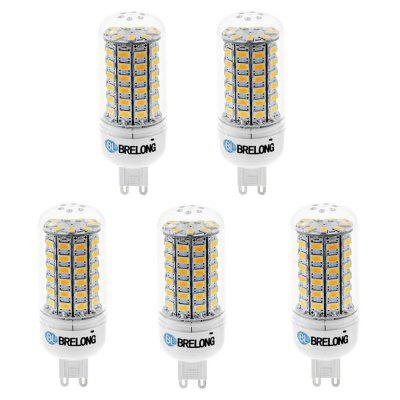 5 x BRELONG G9 SMD 5730 1200LM 15W LED Corn Bulb