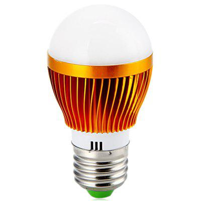 E27 3W x 3 LEDs Golden Shelled White Light LED Globe Bulb (85 - 265V 360LM)