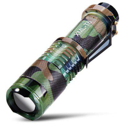 SK98 CREE LED Water-resistant Camping Flashlight Zoomable Army Torch