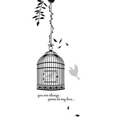 Black Birdcage Kids Wall Decals