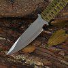 Fixed Blade Fishing Pocket Knife with Sheath - SILVER