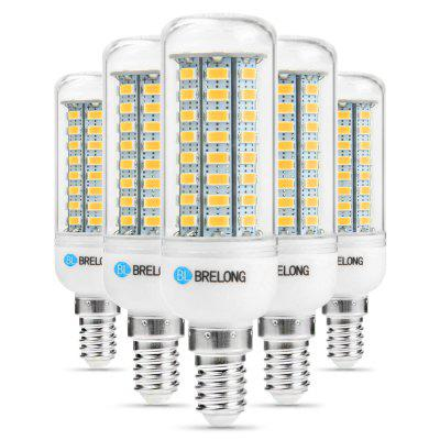 5 x BRELONG E14 12W 1200Lm SMD 5730 LED Corn Light Lamp