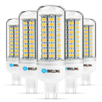 5 x BRELONG G9 12W 1200Lm SMD 5730 LED Corn Light Lamp