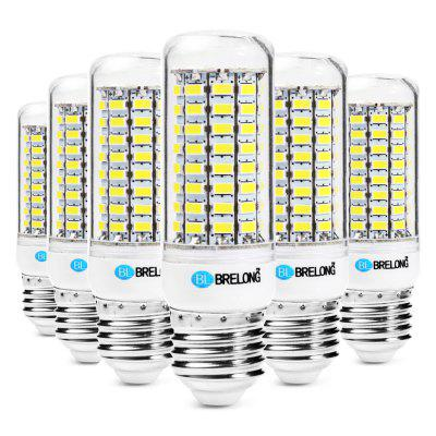 6pcs BRELONG 89 x SMD5730 E27 18W 1800LM LED Corn Bulb