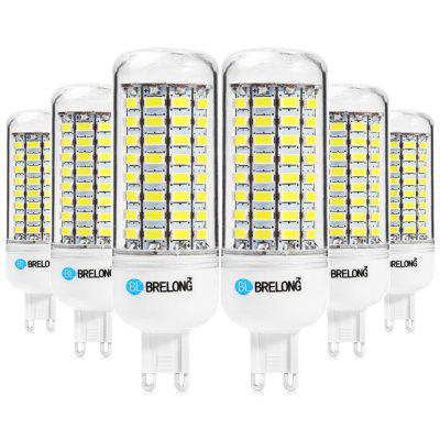 6pcs BRELONG 89 x SMD5730 G9 18W 1800LM LED Corn Bulb