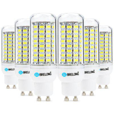 6pcs BRELONG 89 x SMD5730 GU10 18W 1800LM LED Corn Bulb