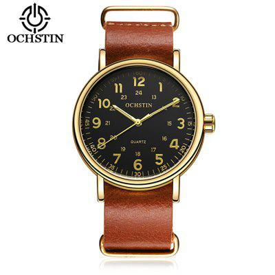 OCHSTIN 1249 Fashion Cowhide Bracelet Men Number Watch