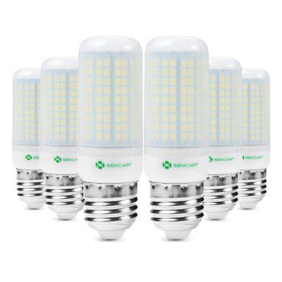 6pcs Sencart E27 180 x SMD2835 1500LM 15W Frosted LED Corn Bulb