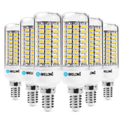 6pcs BRELONG 89 x SMD5730 E14 18W 1800LM LED Corn Bulb