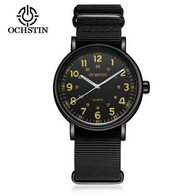 OCHSTIN 1249 Fashion Canvas Bracelet Men Number Watch