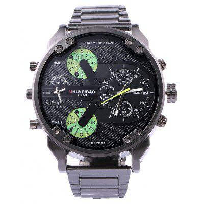 Shiweibao A3137 Male Dual Movt Quartz Watch