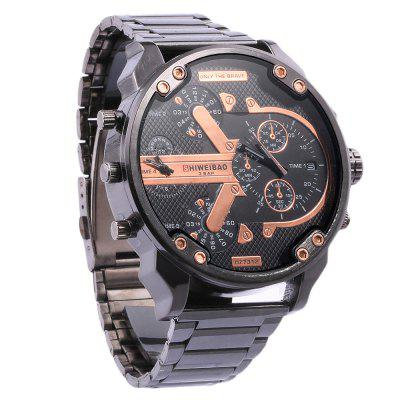 Shiweibao A3137 Male Dual Movt Quartz WatchMens Watches<br>Shiweibao A3137 Male Dual Movt Quartz Watch<br><br>Available Color: Blue,Green,Orange,Gold,Silver<br>Band material: Stainless Steel<br>Brand: Shiweibao<br>Case material: Stainless Steel<br>Clasp type: Folding clasp with safety<br>Display type: Analog<br>Movement type: Double-movtz<br>Package Contents: 1 x Shiweibao A3137 Watch<br>Package size (L x W x H): 25.00 x 6.70 x 2.50 cm / 9.84 x 2.64 x 0.98 inches<br>Package weight: 0.1990 kg<br>Product size (L x W x H): 24.00 x 5.70 x 1.50 cm / 9.45 x 2.24 x 0.59 inches<br>Product weight: 0.1490 kg<br>Shape of the dial: Round<br>Special features: Date, Decorating small sub-dials<br>The band width: 2.2 cm / 0.87 inches<br>The dial diameter: 5.7 cm / 2.24 inches<br>The dial thickness: 1.5 cm / 0.59 inches<br>Watch style: Fashion<br>Watches categories: Male table