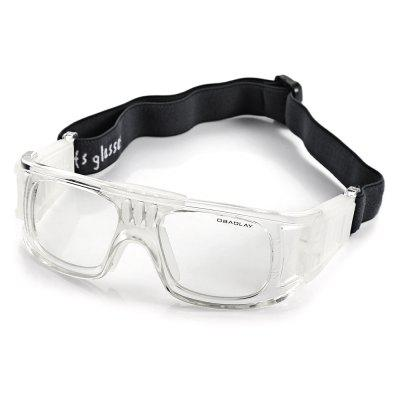 Durable Anti-shock Basketball Glasses Sports Safety Goggles Soccer Football Eyewear - White