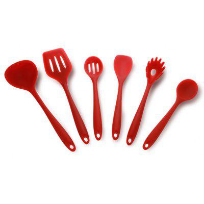 6PCS Silicone Kitchen Non-stick Utensil