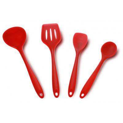 4PCS 4JT - 0112 Silicone Kitchen Non-stick Utensil