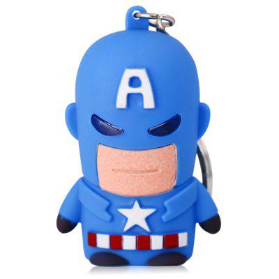 Captain American Style Key Ring