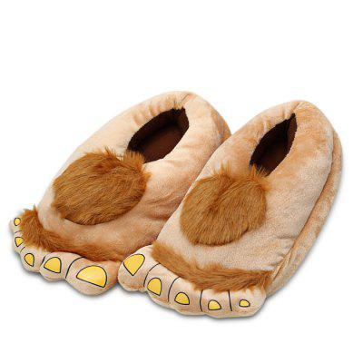 Savage Hair Style Plush Slipper