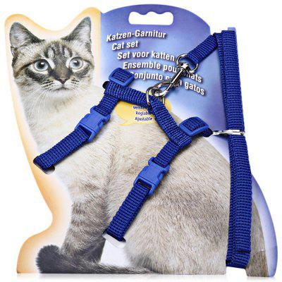 Adjustable Cat Rope Nylon Lead Leash Halter