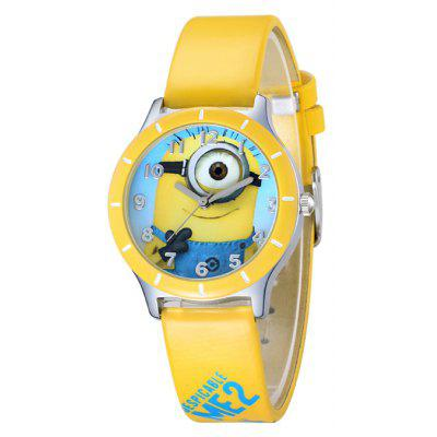 Popular Women Watch Analog with Bee-do Round Dial Leather Watch Band