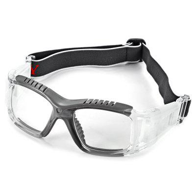 Excellent Anti-collision Basketball Glasses Sports Safety Goggles Soccer Football Eyewear - Gray