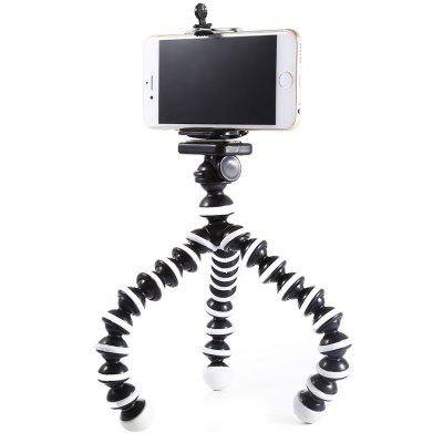 2 in 1 Adjustable Mobile Phone Octopus Style Tripod with ClipChargers &amp; Cables<br>2 in 1 Adjustable Mobile Phone Octopus Style Tripod with Clip<br><br>Color: White<br>Features: Tripod, Flexible, Adjustable Stand<br>Mainly Compatible with: Universal<br>Material: Plastic<br>Package Contents: 1 x 10 inch Tripod, 1 x Cell Phone Clip<br>Package size (L x W x H): 34.00 x 6.00 x 6.00 cm / 13.39 x 2.36 x 2.36 inches<br>Package weight: 0.2320 kg<br>Product size (L x W x H): 33.50 x 5.00 x 5.00 cm / 13.19 x 1.97 x 1.97 inches<br>Product weight: 0.1720 kg<br>Type: Mobile Holder, Clip Stand