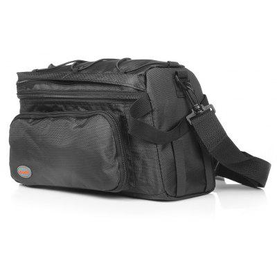 B - SOUL YA035 20L Extendable Bike Rear Rack Bag with Cover