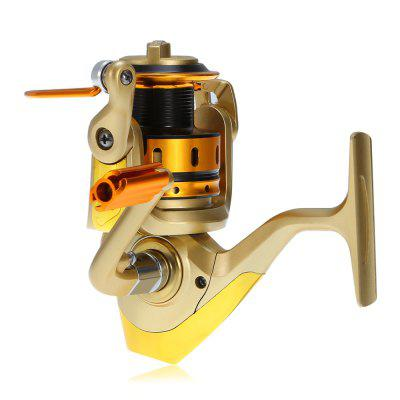 DIAODELAI MR5000 10 Ball Bearings Spinning ReelFishing Reels<br>DIAODELAI MR5000 10 Ball Bearings Spinning Reel<br><br>Ball bearing: 10<br>Color: Champagne<br>Fishing Method: Spinning, Fly Fishing, Freshwater Fishing, Sea Fishing<br>Gear Ratio: 4.7 : 1<br>Line Capacity (mm,m): 0.40 / 120, 0.45 / 100<br>Material: Aluminum Alloy<br>Package Contents: 1 x DIAODELAI MR5000 Spinning Fishing Reel<br>Package size (L x W x H): 16.00 x 16.00 x 11.00 cm / 6.3 x 6.3 x 4.33 inches<br>Package weight: 0.4600 kg<br>Product size (L x W x H): 14.50 x 14.50 x 9.00 cm / 5.71 x 5.71 x 3.54 inches<br>Product weight: 0.3600 kg<br>Reel Handle Side: Left side<br>Reel Handle Type: Foldable<br>Type: Spinning Reels