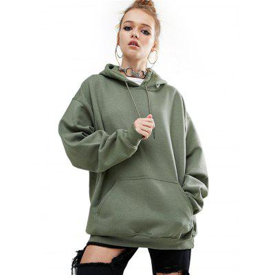 Loose Fitting Female Maroon Hoodie