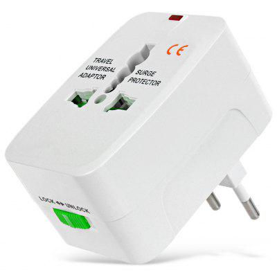 Universal Global Travel Power Plug Adapter mit US / EU / UK / AU Standard - Weiß