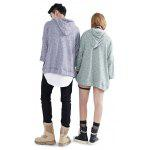Pullover Knitted Couple Hoodies - BLEU