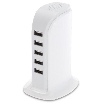 6A Power Adapter 5 USB Charger Dock