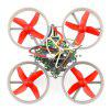 F36S Mini Brushed FPV Racing Drone DIY Kit - BNF - GRAY AND RED