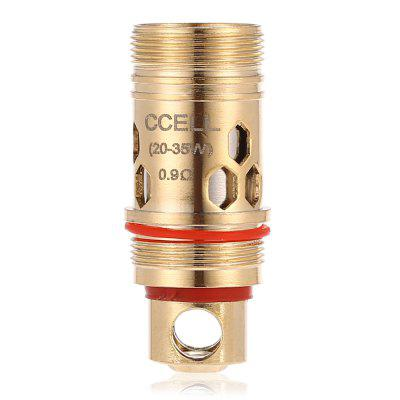 Original Vaporesso 0.9 ohm Cell Coil HeadAccessories<br>Original Vaporesso 0.9 ohm Cell Coil Head<br><br>Accessories type: Atomizer Heater Core<br>Material: Kanthal<br>Package Contents: 5 x Original Vaporesso 0.9 ohm Cell Coil Head<br>Package size (L x W x H): 3.20 x 4.80 x 6.80 cm / 1.26 x 1.89 x 2.68 inches<br>Package weight: 0.100 kg<br>Product size (L x W x H): 1.10 x 1.10 x 2.50 cm / 0.43 x 0.43 x 0.98 inches<br>Product weight: 0.020 kg<br>Resistance: 0.9 ohm