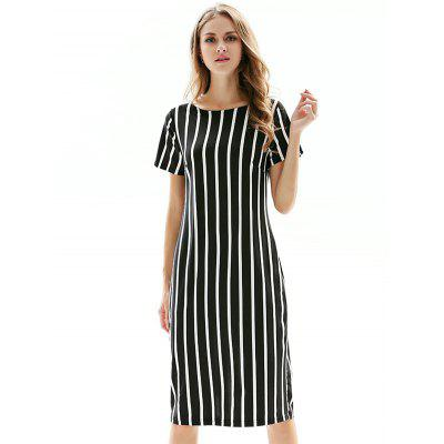 Slim Elastic Striped Women Dress