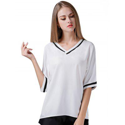 Batwing Half Sleeve Women Chiffon Tops with Sun-top
