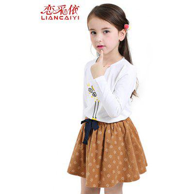 Liancaiyi Girls T Shirt Vestido Set