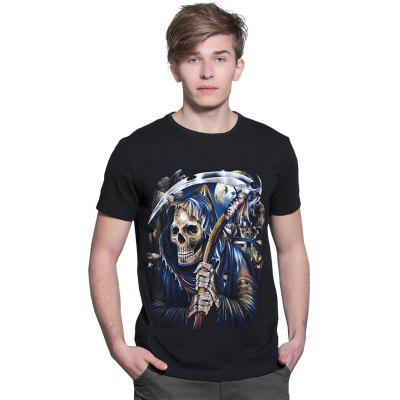 Skull Reaphook Punk T Shirts