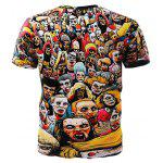 3D Zombie Short Sleeves T-shirt - COLORMIX