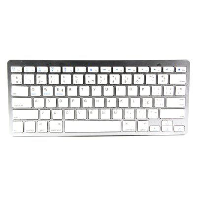 BK3001BA Bluetooth Wireless Spanish Keyboard Aluminum Alloy / ABS Computer Peripheral