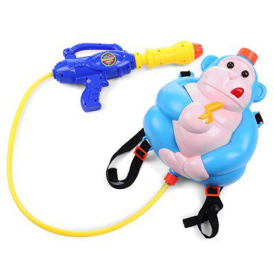 Kid Cute Monkey Backpack Pressure Pump Squirt Gun