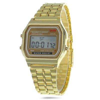 Day Alarm Stopwatch Men LED Watch Analog Wristwatch