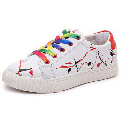 Buy Graffiti White Trainers, RED, 37, Bags & Shoes, Women's Shoes, Women's Sneakers for $15.16 in GearBest store