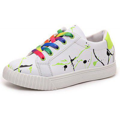 Buy Graffiti White Trainers, GREEN, 39, Bags & Shoes, Women's Shoes, Women's Sneakers for $15.16 in GearBest store