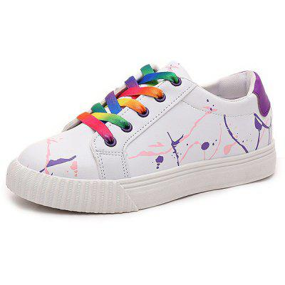 Buy PURPLE Graffiti White Trainers for $20.09 in GearBest store